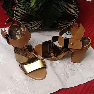 Bronze Strappy Heels